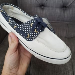 🎀Sperry Top Sider White Boat Shoes